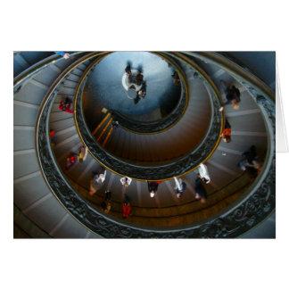 caracol de la circular de vatican tarjeta de felicitación