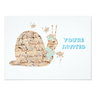 Caracol de Samantha Escargot Invitación 13,9 X 19,0 Cm