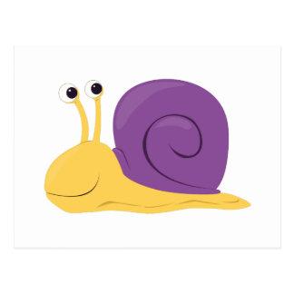 Caracol del dibujo animado postales