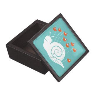 Caracol del fall cajas de recuerdo de calidad
