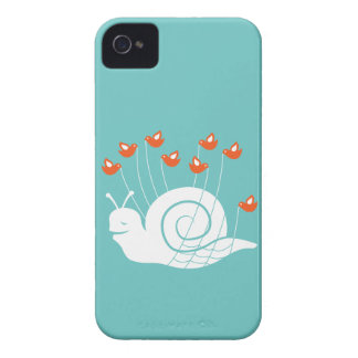 Caracol del fall iPhone 4 Case-Mate protectores