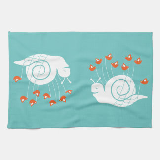 Caracol del fall toalla de mano