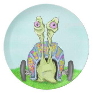 Caracol del Hippie Plato Para Fiesta