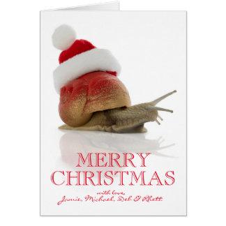 Caracol del navidad tarjeta de felicitación