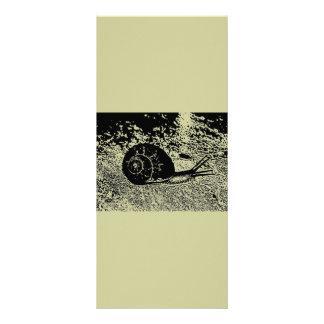 Caracol en blanco y negro diseños de tarjetas publicitarias
