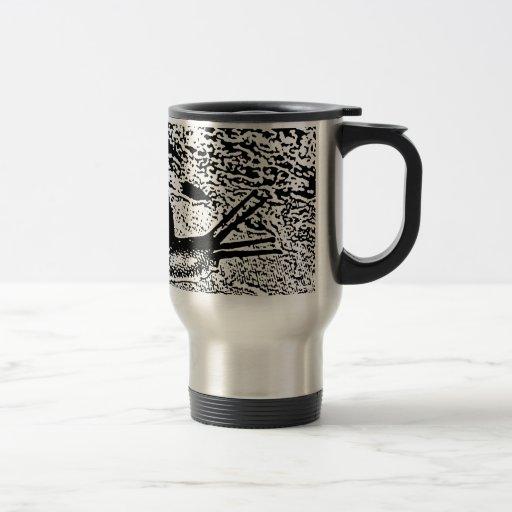 Caracol en blanco y negro tazas de café