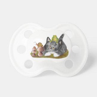 Caracol en Toadstool con la rana en gatito Chupete