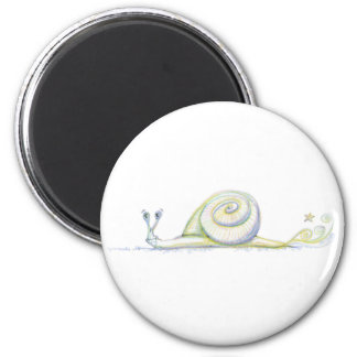Caracol estupendo imán redondo 5 cm