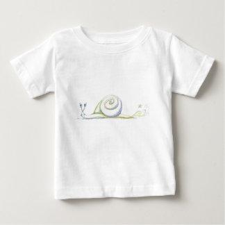 Caracol estupendo playera para bebé