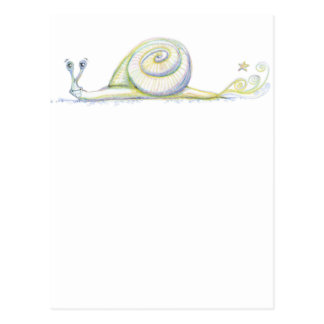 Caracol estupendo tarjetas postales
