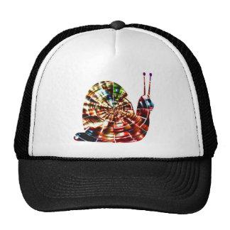 Caracol exótico - energía cósmica roja chispeante gorra