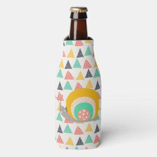 Caracol feliz en triángulos enfriador de botellas