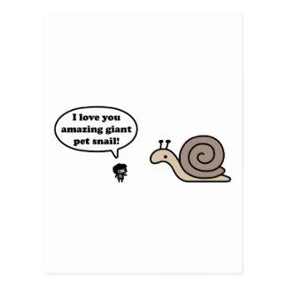 Caracol gigante asombroso del mascota postales