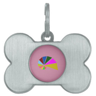Caracol juguetónamente geométrico placas de nombre de mascota