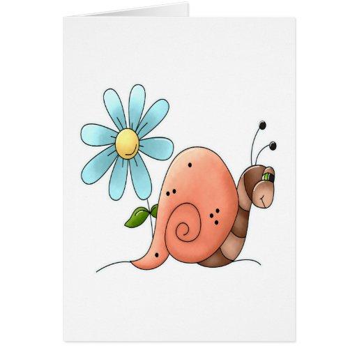 caracol lento tarjeta de felicitación