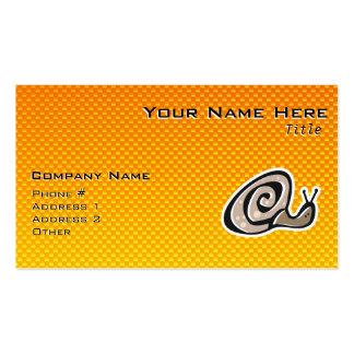 Caracol lindo amarillo-naranja plantillas de tarjeta de negocio