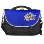 Caracol lindo; Azul Bolsa Para Ordenador