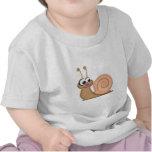 Caracol lindo del dibujo animado camisetas