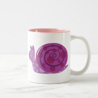 Caracol manchado púrpura tazas