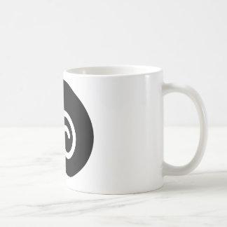 caracol negro taza
