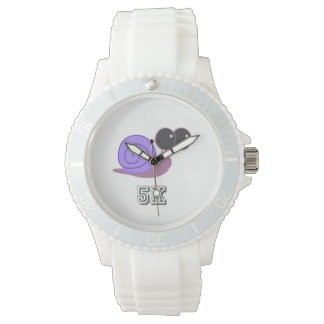 Caracol púrpura lento 5K Reloj
