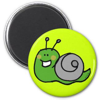 Caracol verde iman para frigorífico