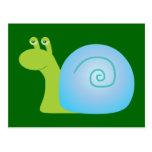 Caracol verde postales