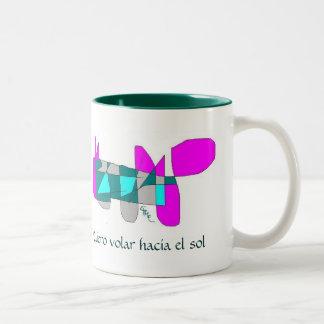caracol volador taza