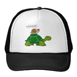 Caracol y tortuga - dúo de Turbo Gorro
