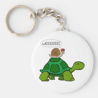 Caracol y tortuga - dúo de Turbo Llavero Personalizado