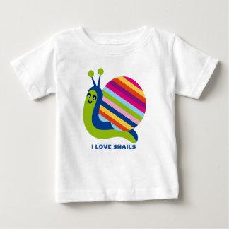 Caracoles coloridos lindos del amor de los t shirt