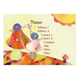 Caracoles en tarjetas de visita del cuidado de