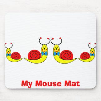 Caracoles, mi estera del ratón alfombrillas de ratón