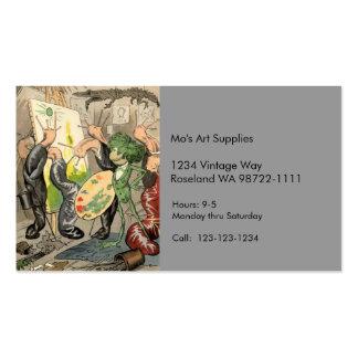 Caracoles y galería de arte del sapo plantilla de tarjeta de visita