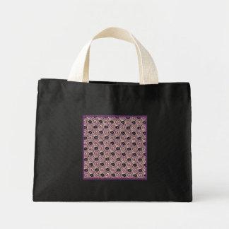 Caracoles y negro púrpura de color de malva de las bolsa de tela pequeña