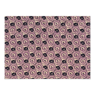 Caracoles y púrpura de color de malva de las invitación 13,9 x 19,0 cm