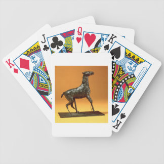Caracoling Horse (bronze) Bicycle Playing Cards