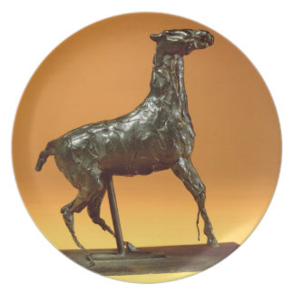 Caracoling Horse (bronze) Melamine Plate