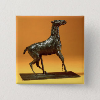 Caracoling Horse (bronze) Pinback Button
