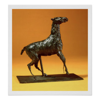 Caracoling Horse (bronze) Poster