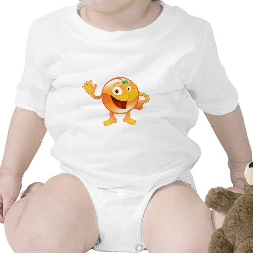 Carácter anaranjado lindo feliz de la fruta traje de bebé