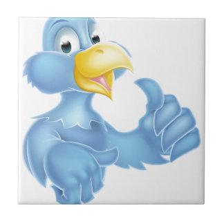 Carácter azul del pájaro azulejo cuadrado pequeño