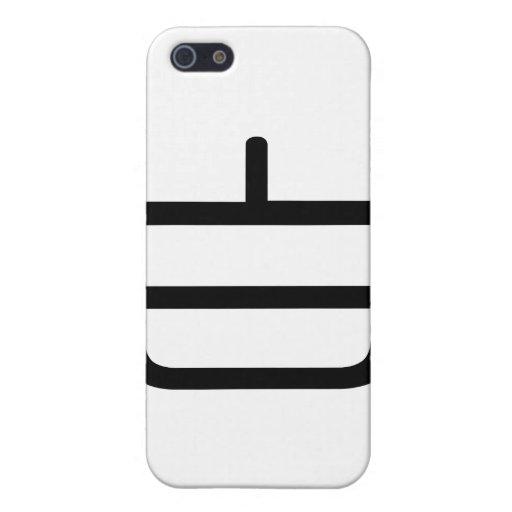Carácter chino: bai, significando: blanco, puro iPhone 5 carcasas