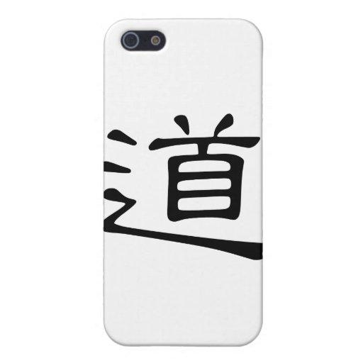 Carácter chino: dao, significando: camino, manera, iPhone 5 carcasas