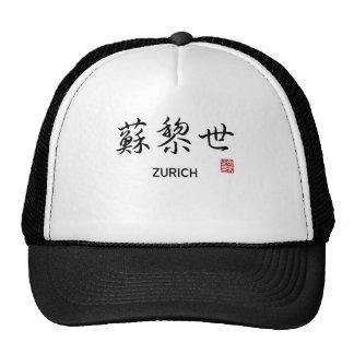 Carácter chino de Zurich Gorro