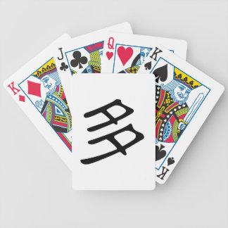 Carácter chino: dúo, significando: muchos, mucho baraja de cartas bicycle