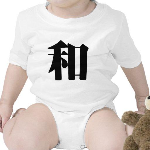 Carácter chino: he2, significando: paz, clase, sum camisetas