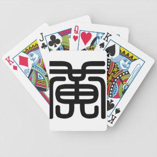 Carácter chino: huang, significando: amarillo baraja de cartas bicycle