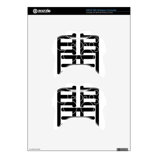 Carácter chino: kai, significando: abierto mando xbox 360 calcomanía