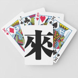 Carácter chino: lai, significando: venido baraja de cartas bicycle